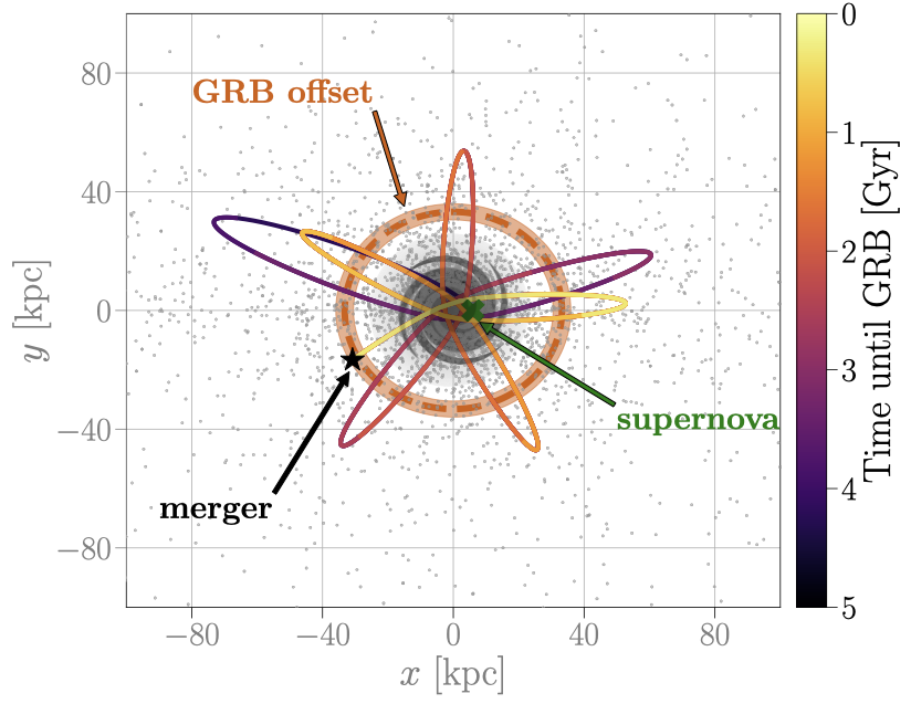 SGRB progenitors in a simulated galaxy